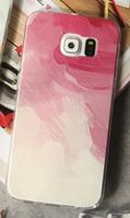 """Силиконовый чехол """"Абстракция"""" для Samsung Galaxy S6"""