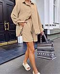 Костюм женский летний с шортами и рубашкой, фото 3