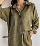 Костюм женский летний с шортами и рубашкой, фото 6