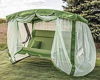 Садовые качели Корса с подголовником магазин мебели для дачи