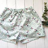 Домашний костюм-пижама с птицами, футболка и штаны, фото 4