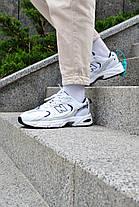Кросівки чоловічі New Balance 530 White Blue Нью Беланс 530 Білі з Синім Репліка, фото 3