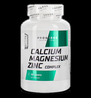 Кальцій-магній-цинк Progress Nutrition Calcium Magnesium Zinc 90 таблеток