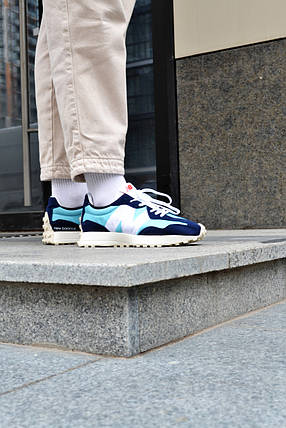 Кроссовки мужские New Balance 327 Blue Нью Беланс 327 Синие Реплика, фото 2