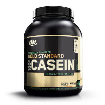 Казеин Optimum Nutrition 100% Gold Standard Casein Natural 1810 грамм Французская ваниль