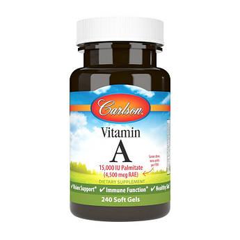 Витамин А Carlson Labs Vitamin A 15000 IU 4500 mcg 250 капсул