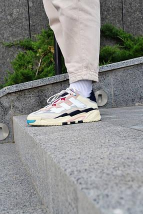 Кросівки чоловічі Adidas NiteBall Biege Pink Адідас Найтбол бежево фіолетові Репліка, фото 2