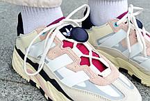 Кроссовки мужские Adidas NiteBall Biege Pink  Адидас Найтбол бежево фиолетовые Реплика, фото 3