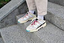 Кроссовки мужские Adidas NiteBall Biege Pink  Адидас Найтбол бежево фиолетовые Реплика, фото 2