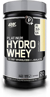 Сывороточный протеин гидролизат Optimum Nutrition Platinum Hydro Whey (795 г)  платинум вей  ваниль