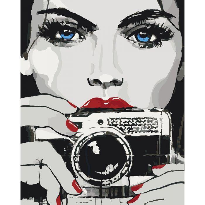 """Картина по номерам. Люди """"Яркий взгляд"""" KHO2670, 40х50 см"""