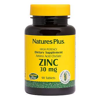 Цинк 30 мг, Natures Plus, 90 Таблеток