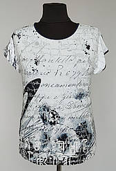 Футболка женская «Natalia» с надписями по ткани (48-58 р)