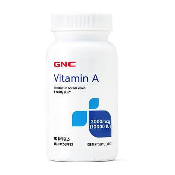 Витамин А GNC Vitamin A 10000 IU 3000 mcg 180 капсул
