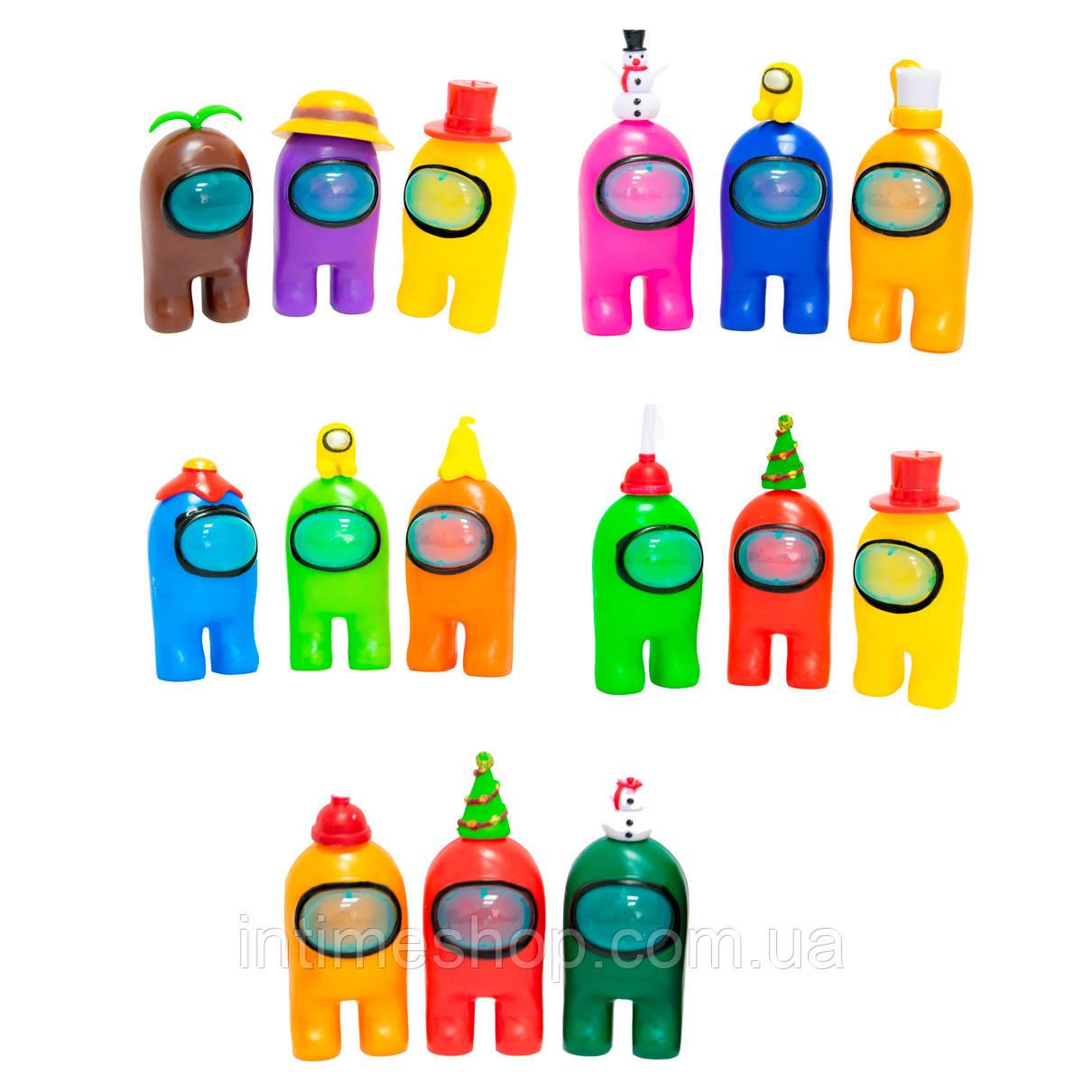 Набір з 3 іграшок з гри Аmong us - фігурки Амонг ас (серед нас), іграшки амонг ас (игрушки Амонг ас)