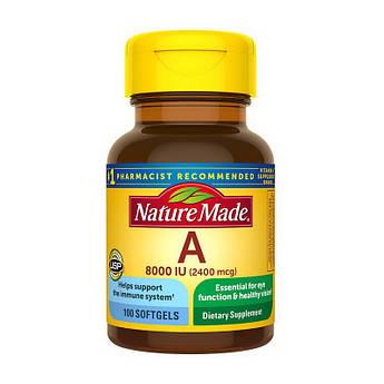 Витамин А Nature Made Vitamin A 2400 mcg 100 капсул