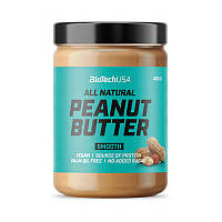 Натуральная арахисовая паста BioTech All Natural Peanut Butter (400 г) биотеч smooth