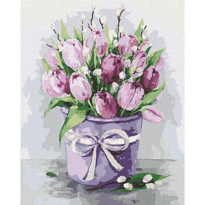 """Картина по номерам. Идейка """"Изящные тюльпаны"""" 40х50 см KHO2958"""