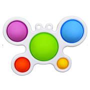 Simple Dimple Антистрес Іграшка Сімпл Дімпл - Pop It - Поп Іт - Попит - Popit) - Білий Брелок з Крабик