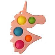 Simple Dimple Антистрес Іграшка Сімпл Дімпл - Pop It - Поп Іт - Попит - Popit) - Рожевий Єдиноріг з