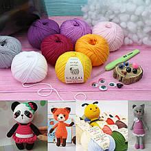 Набор для вязания игрушек Baby Cotton-25+холлофайбер в подарок!