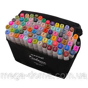 Набор профессиональных двухсторонних маркеров для скетчинга Touch 80 цветов в чехле, Подарок художнику