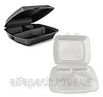 Ланч-бокс МВ-3 из полистирола, 250x210x70, упаковка 150 шт, (2,50 грн/шт)
