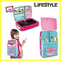Обучающий набор для рисования backpack packing 3in1