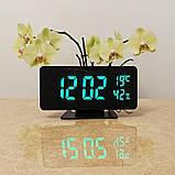 Електронний настільний дзеркальний цифровий лед годинник VST-888Y Світлодіодний Led з термометром, фото 2