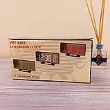 Електронний настільний дзеркальний цифровий лед годинник VST-888Y Світлодіодний Led з термометром, фото 3