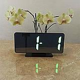 Електронний настільний дзеркальний цифровий лед годинник VST-888Y Світлодіодний Led з термометром, фото 4