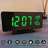 Електронний настільний дзеркальний цифровий лед годинник VST-888Y Світлодіодний Led з термометром, фото 7