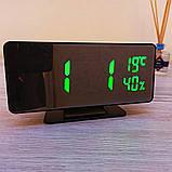 Електронний настільний дзеркальний цифровий лед годинник VST-888Y Світлодіодний Led з термометром, фото 6