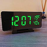 Електронний настільний дзеркальний цифровий лед годинник VST-888Y Світлодіодний Led з термометром, фото 9