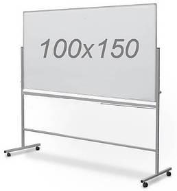 Дошка магнітно-маркерна двостороння поворотна UkrBoards 100 х 150 див. Біла дошка для маркера