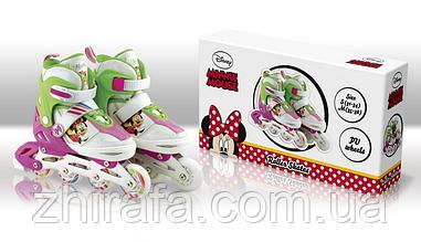 Роликовые коньки Disney Minnie Mouse M c металлической рамой размер 35-38(RS0112)