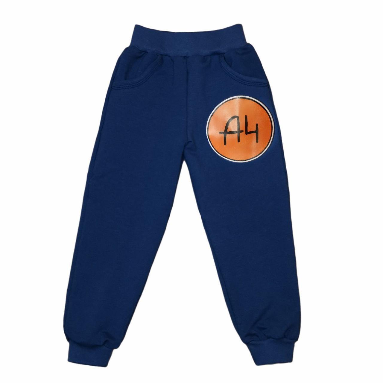 Спортивные штаны детские с принтом A4 двунитка