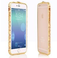 Золотой бампер с камнями Сваровски для Iphone 6