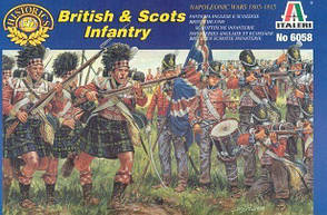 Британская и шотландская пехота, наполеоновские войны 1805-1815 годов, 50 фигур. 1/72 ITALERI 6058