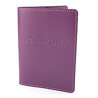 Обкладинка на паспорт шкіряна жіноча HC-18 (фуксія)