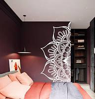 Интерьерная наклейка Узор половина мандалы (узоры Индия декор изголовья кровати менди) матовая 1000х385 мм, фото 1