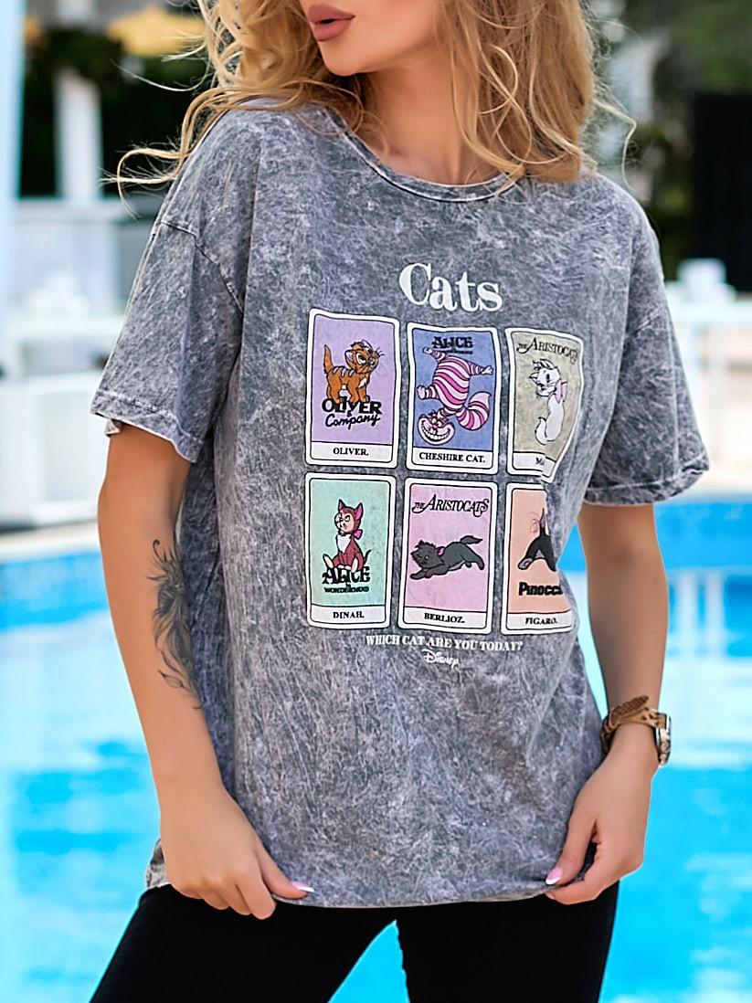 Женская летняя футболка коттон 100% с коротким рукавом: размер 42-44,44-46