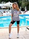 Женская летняя футболка коттон 100% с коротким рукавом: размер 42-44,44-46, фото 3