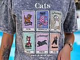 Женская летняя футболка коттон 100% с коротким рукавом: размер 42-44,44-46, фото 5