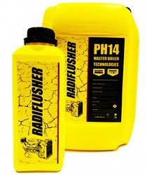 RADIFLUSHER pH14, 1 л - щелочной очиститель системы охлаждения, печки, радиатора автомобиля