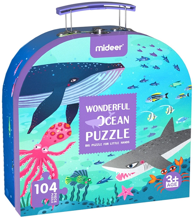 Пазл Mideer у валізці Чудовий океан 104 елемента