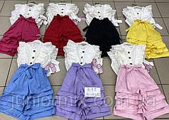Летние детские хебешные  комбинезоны для девочек оптом