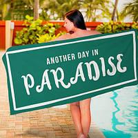 Пляжное полотенце с принтом Another day in paradise