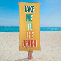 Пляжное полотенце с принтом Take me to the beach