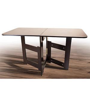 Кухонный стол-книжка Лайт Трансформер раскладной тонкий из дсп венге-магия